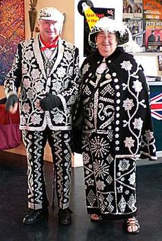Pearly King and Queen - the Cockney button people..