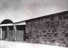 Detalle de la fachada, Granja Lechera, Zumpango, Estado de...