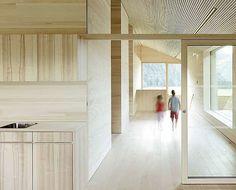 Interior of a kindergarten by Dl Bernardo Bader. Beautiful wood texture.