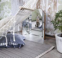 LOBBÄK Tæppe, fladvævet, indendørs/udendørs beige.