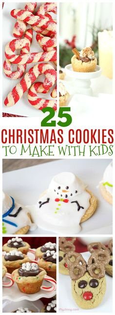 These 25 Christmas cookies are perfect to make with kids. Christmas is the perfect time to bake with your kids, too. Make these easy cookies perfect for neighbor gifts, or just to make memories together with your kids during the holidays. These easy cookie ideas are perfect for kids and adults. #christmas #christmascookies #neighborgifts #cookierecipe #cookies #easycookies #uniquecookieideas