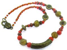 """#beadkits Create your own """"The Cleopatra"""" necklace with our kit which includes all beads, findings and components, plus detailed instructions with photos and diagrams. Your kit will arrive nicely packaged so it can be given as a gift! This is a beginner level project. Shop here: http://www.happymangobeads.com/thecleopatra-necklacekitkit12.aspx"""