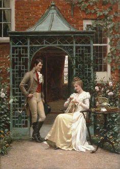 On the Threshold - Edmund Blair Leighton