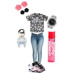 """pretty pink flowers"" by monikadoughty on Polyvore"