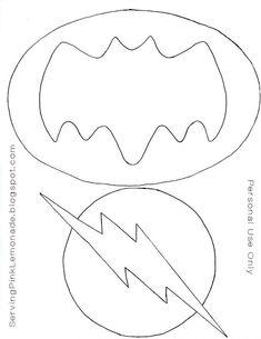 Patrón logo Batman y Flash en fieltro