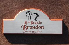 Custom Stall Signs by The Custom Equine  www.customstallsigns.com