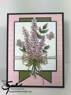 Uses an image from the Lots of Happy Card Kit to create this sweet card Card Kit, I Card, Lavender Stamp, Mothers Day Cards, Card Sketches, Making Greeting Cards, Sympathy Cards, Cool Cards, Flower Cards