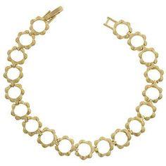 Matte Gold Floral Link Bracelet