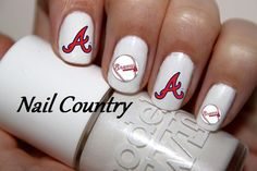50pc Atlanta Braves Baseball Nail Decals Nail Art by NailCountry, $3.99