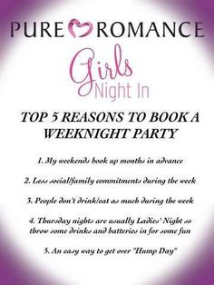 Book a Thursday or Friday night party