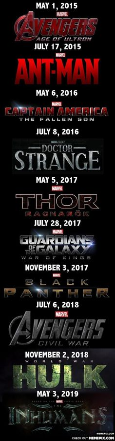 Marvel dates!!!