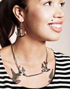 Are you feeling fashionable? -blogin Nadja Kamaran suunnittelemat Cailap by Bloggers-malliston seilorihenkiset ankkurikorvakorut <3 4,95 € verkkokaupassa!