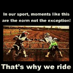 Everytime at the gates before a moto... Michaela & I. One reason I love this sport.