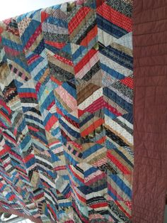 Antique Quilt 86 x 72 Chevron Quilt Red White by CityGirlAntiques, Etsy