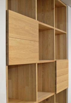 Furniture Designs JAVORINA :: Masívna dubová knižnica | Solid oak bookcase shop.javorina.eu Solid Oak, Shelving, Furniture Design, Home Decor, Houses, Shelves, Decoration Home, Room Decor, Shelving Units