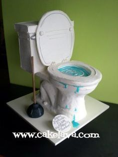 Toilet Cake Tutorial x3cbx3etoilet cakex3c/bx3e on pinterest  birthday x3cbx3ecakesx3c/bx3e, x3cbx3ecakesx3c/bx3e and gross x3cbx3ecakesx3c/bx3e