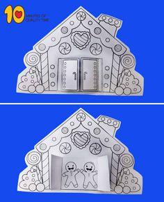 perníkový dom potlačiteľný vzor