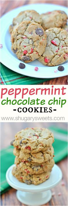 Peppermint Mocha Chocolate Chip Cookies - Shugary Sweets