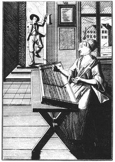 """Cymbalschlagerin (woman dulcimer player), an engraving by Johann Christoph Weigel (ca. reflects the instrument's increasing use by common folk. (Image from """"The Hammered Dulcimer in America"""" by Nancy Groce) Dulcimer Instrument, Hammered Dulcimer, Picture Show, Musical Instruments, 18th Century, Persian, Musicians, Folk, Around The Worlds"""