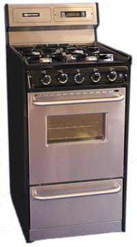 brown 20 inch gas range stove