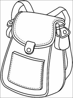Coloring Pages to print for kids School 2 - Back To School Coloring Pages To Print, Coloring For Kids, Colouring Pages, Coloring Sheets, Coloring Books, Back To School Highschool, I School, School Bags, School Ideas