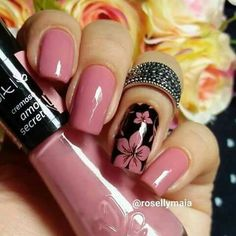 170 beautiful spring nail art designs page Fancy Nails, Trendy Nails, Pink Nails, Cute Nails, My Nails, Best Nail Art Designs, Colorful Nail Designs, Nagellack Design, Spring Nail Art