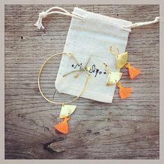 Les petits nouveaux parfaits pour cet été. En plaqué or, laiton brut et pompons qui se déclinent dans de nombreux coloris 🌴☀️ #mdesego #bijoux #jewels #handmade #madewithlove #faitavecamour #faitenfrance #faitmain #madeinfrance #madewithlove #madeincroixrousse
