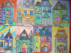 1000 images about victorians on cardboard Victorian History, Victorian Homes, Victorian Era, Architecture Design, Victorian Architecture, Middle School Art, Art School, School Ideas, Victorian Artwork
