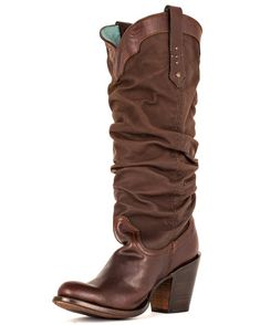 Ladies' boots from Corral are a beauty to behold. Every inch is filled with amazing detail with inlays, cut-outs or stitch patterns. The use of distressed leathers with abrasions, tinting and scarring give each pair a unique vintage character. Own and love a pair of Corral boots!SKU: COR-C2106