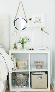 Amazing-Small Bedroom-Decor-Ideas Do you have a small bedroom? Then this is the perfect ideas for you. Great ideas for usefulness Small Bedroom Decor. Home Bedroom, Bedroom Storage, Small Bedroom Hacks, Bedroom Design, Bedroom Inspirations, Room Decor, Small Bedroom, Ikea Bedroom, New Room