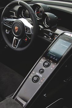 Porsche 918 Spyder Interior If Only They Didnt Have Knobs It Would Be Better