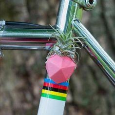 Geometric Bike Planter Pink