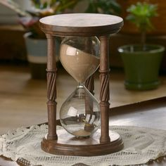 Solid Walnut Hourglass