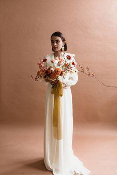 Modern mauve and yellow wedding palette and bridal inspo Wedding Bells, Boho Wedding, Floral Wedding, Wedding Colors, Wedding Bouquets, Wedding Styles, Dream Wedding, Wedding Dresses, Rustic Wedding
