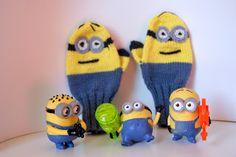 http://worldmariny.blogspot.ru Воплощение мечты: Начало Minion mitten knitted, hand made