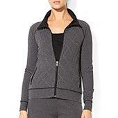 Lauren Ralph Lauren Quilt Front Zip Jacket