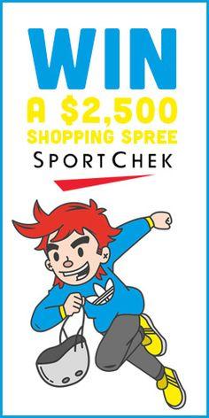 #Win a $2,500 #SportChek Shopping Spree