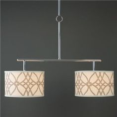 you can put any fabric shades (over 30 choices) on this island chandelier to make it your own!