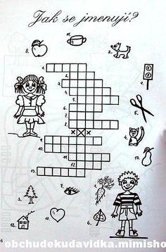 Výsledek obrázku pro dětské křížovky a doplňovačky