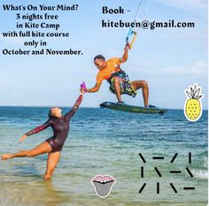 3 nights for free only in October and November in Buen Hombre Kite Camp! Bungalow On The Beach, Best Kiteboarding, Kite School, Beach Accommodation, Beach Bungalows, Paradise Island, Surf Style, Fishing Villages, Wakeboarding