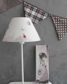 Grey Atmosphere Poetic decoration victorian girl canvas Creation Homes, Fabric Garland, Watercolor Canvas, Lampshades, Cushions, Victorian, Decoration, Grey, Illustration