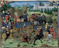 Procession with a king (British Library, 2013)