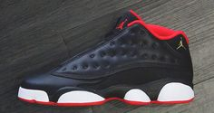 Check out a Detailed Look at the Air Jordan 13 Low Black/University Red