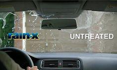 Uma garrafa de Rain-X Quando chover, obter a sua visibilidade melhorada para a segurança e conforto durante a condução, pois elimina gelo, geada e até mesmo insetos.