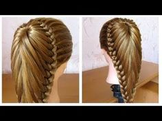 Bridal hairstyle for long hair tutorial. Updo for wedding Cool Hairstyles For Girls, Trendy Hairstyles, Girl Hairstyles, Beautiful Hairstyles, Youtube Hair Tutorials, Braid Tutorials, Hairstyle Tutorials, Braided Hairstyles Updo, Bridal Hairstyle