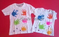Prenda Dia da Criança - camisola com timbragem das mãos