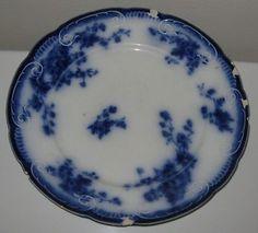 "Antique w M Grindley Flow Blue Marechal Neil China Porcelain Ironstone 9"" Plate   eBay"