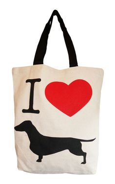 "New ""Doxie Love"" tote from Bean Store on #NYLONshop! #dachshund #wienerdog"