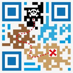 QR Code Treasure Map -- 40 Gorgeous QR Code Artworks That Rock