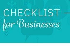 Social Media - A Sensible Social Media Checklist for Businesses [Infographic] : MarketingProfs Article